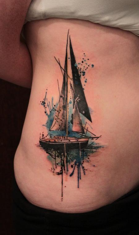 Sailboat Tattoo Design Thumbnail