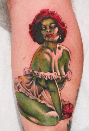 zombie girl tattoo. Gil Elvgren Zombie Tattoo