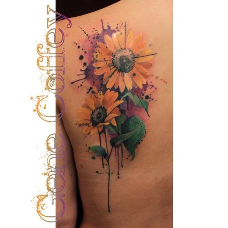 Sunflowers Tattoo Design Thumbnail