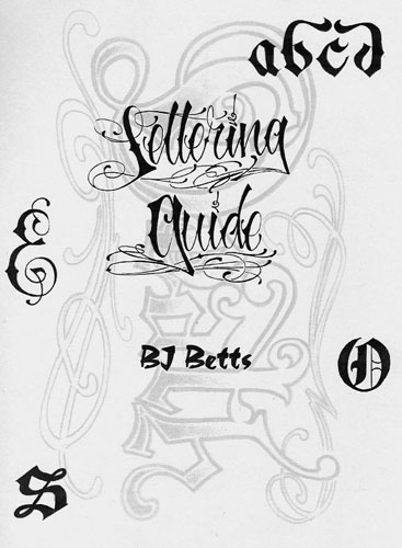 The BJ Betts Lettering Guide Number Three