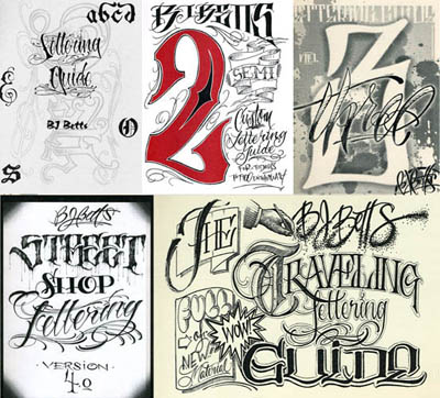 BJ Betts- ALL 5 Lettering Guides