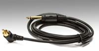 Black - RCA cable, 8' long, 1/4