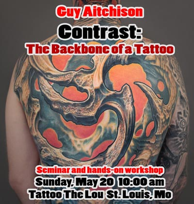Guy Aitchison Contrast: The Backbone of a Tattoo