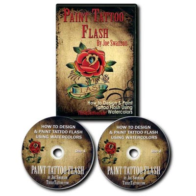 Paint Tattoo Flash DVD - by Joe Swanson