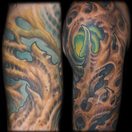 Bio Organic Half Sleeve Details Tattoo Design