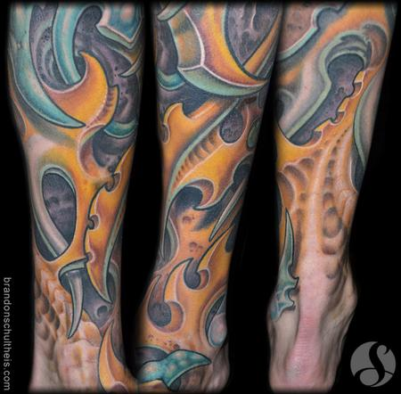 Tattoos - bio-Organic Leg & Foot Tattoo Detail - 70690