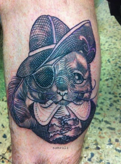Sam Rulz - Pirate Cat Tattoo