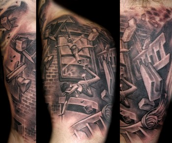 Looking for unique Black and Gray tattoos Tattoos?  The Boston fire