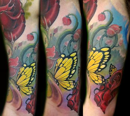 Tattoos - Yellow butterflies - 56400