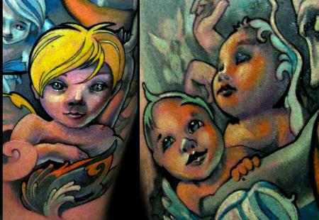 Tattoos - Cherubs sleeve detail - 56403