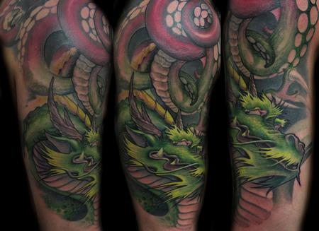 Tattoos - dragon octopus  - 62284