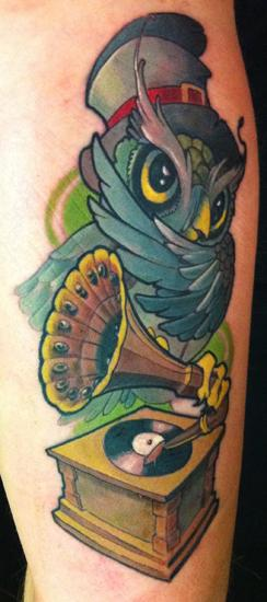 Gufo owly Tattoo Design Thumbnail