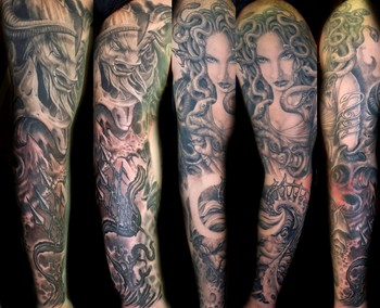 Looking for unique Realistic tattoos Tattoos?  Mithology sleeve