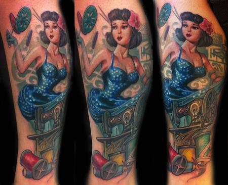 Looking for unique Color tattoos Tattoos?  sawing pin up