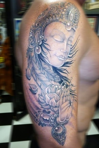 Tattoos Flower tattoos Meditating Woman Tattoo