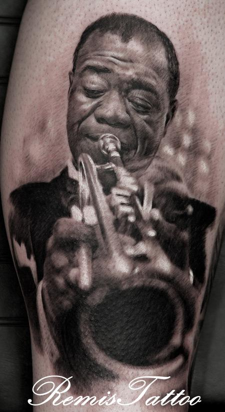 Tattoos - Louis Armstrong Tattoo - 55865