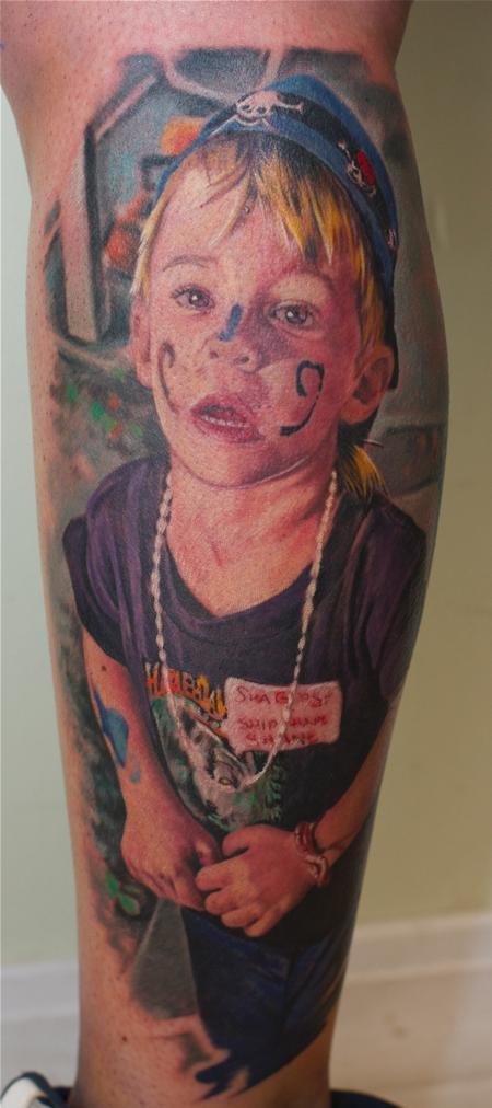 Remis Tattoo - Color child portrait