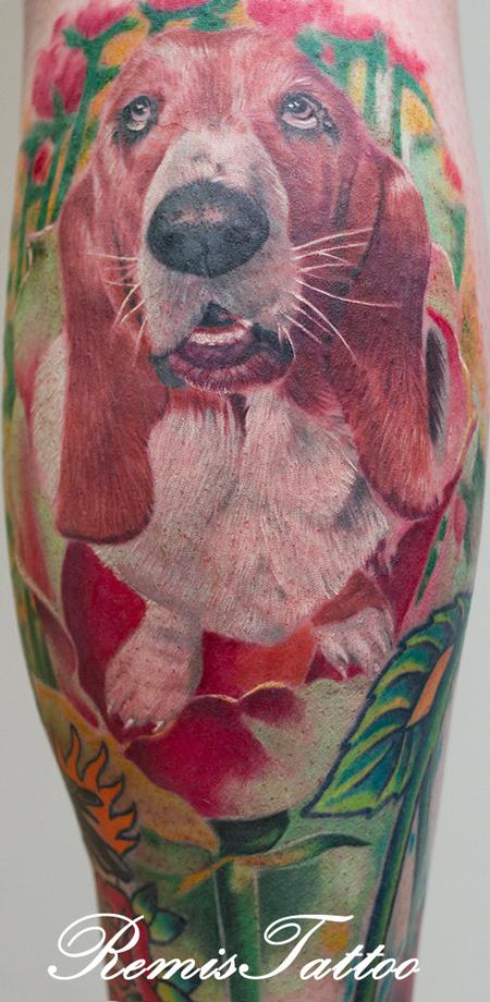 Tattoos - dog portrait tattoo 2 - 55716