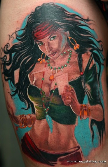 Tattoos - fantasy girl tattoo - 51307