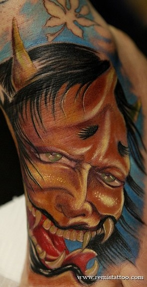 Tattoos - japanese demon colo tattoo - 52145