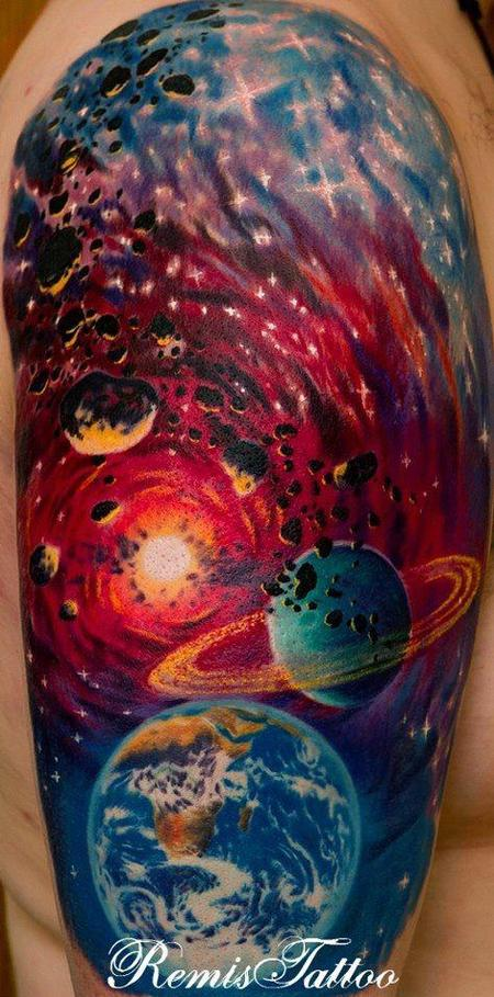 Tattoos - Space Tattoo Sleeve - 75249