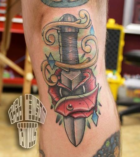 knee dagger Tattoo Design