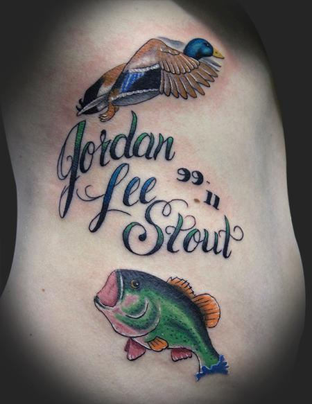 Fishing Memorial Tattoos