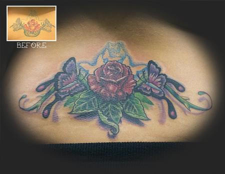 Tattoos - Rose and Butterflies Rework - 62247