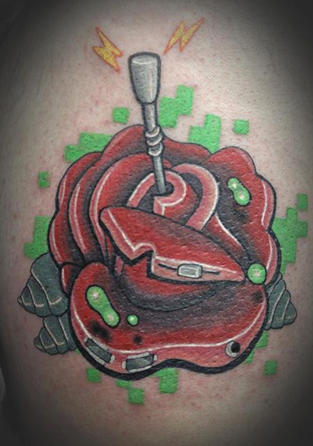 Robot Rose Tattoo Design Thumbnail