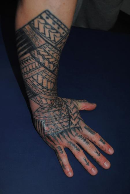 Tattoos - Black work Hand Tattoo - 60477