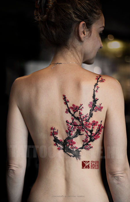 Freehand Colour Cherry Blossoms - Joey Pang Design Thumbnail