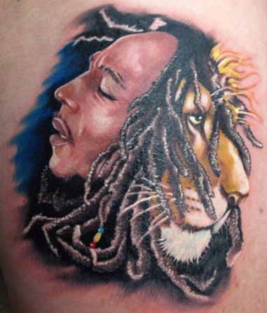 bob marley lion by michele turco tattoonow. Black Bedroom Furniture Sets. Home Design Ideas