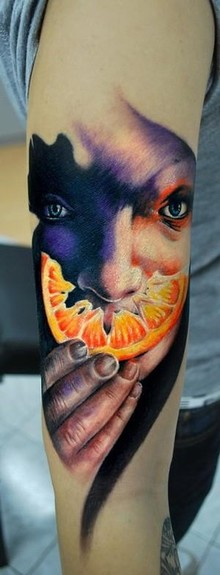 orange peel tattoo Tattoo Design