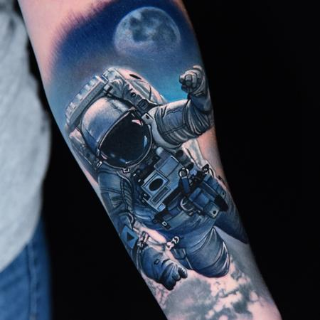 Space Walk Tattoo Thumbnail