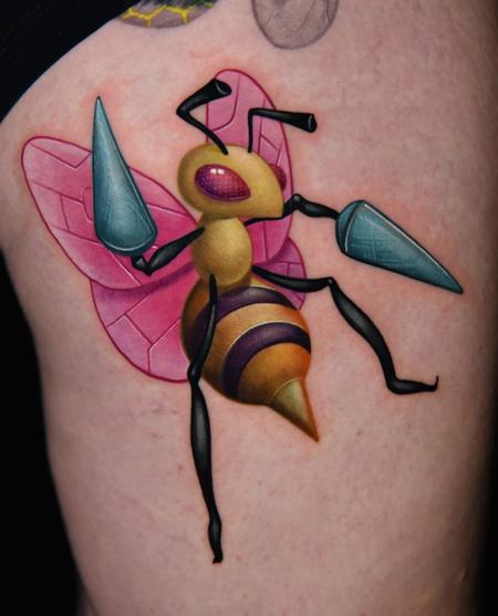 Beedrill Pokemon Tattoo Thumbnail