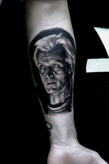 Ralf Nonnweiler - Rutger Hauer Portrait Tattoo