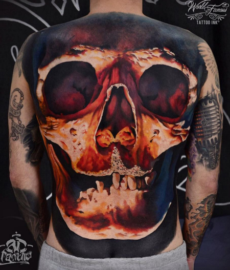 Tattoos - Skull Backpiece - 112304