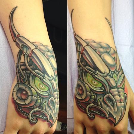 RoboDragon Hand tattoo Tattoo Design