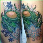 Winter Mantis Tattoo Design Thumbnail