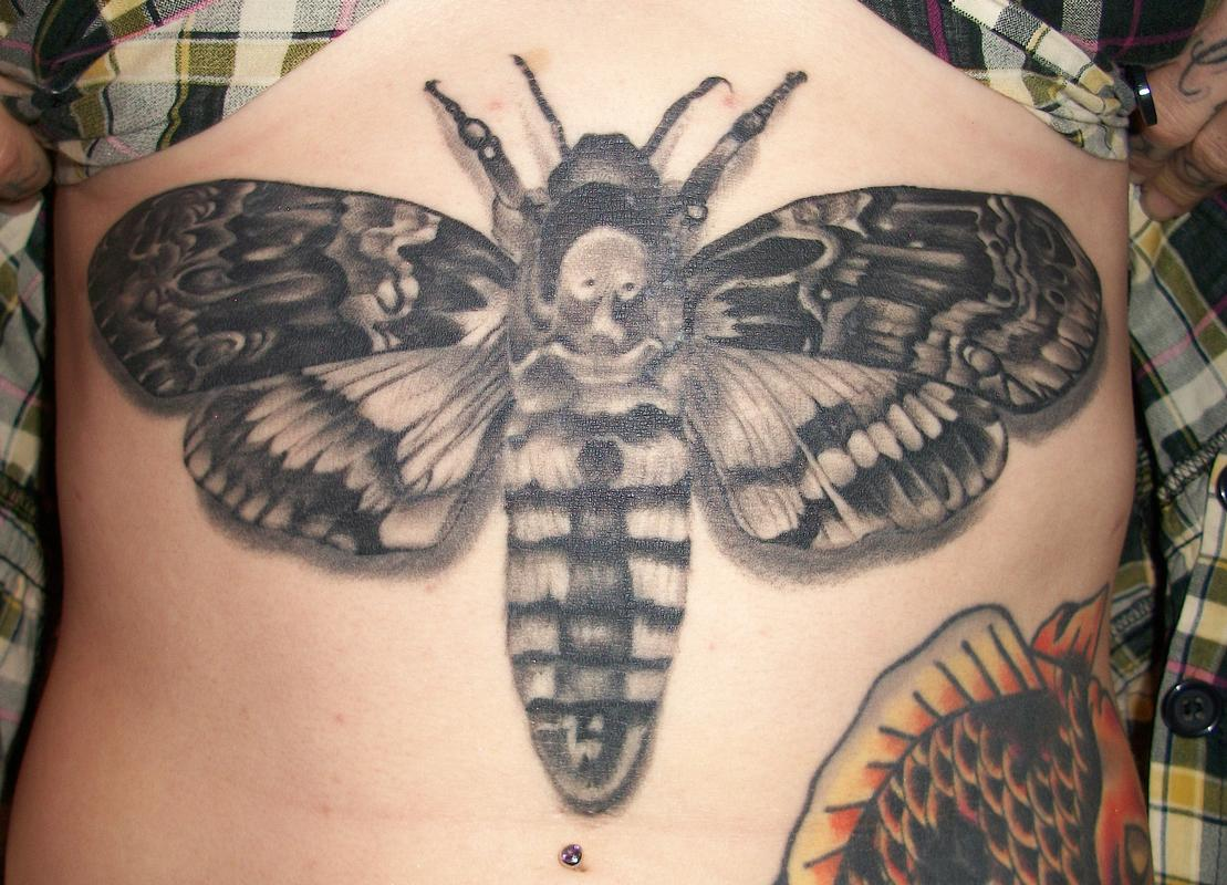 Black and grey moth by alex moreno tattoonow for Tattoo shops in moreno valley