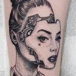 Westworld pinup Tattoo Design Thumbnail