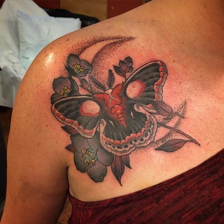 Tattoos - Moth and Moon - 109514