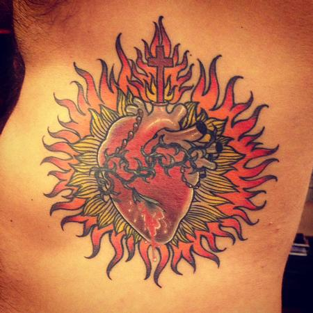 Tattoos - Sacred Heart Ribs - 109389