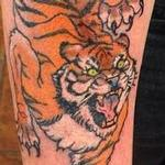 Arm Tiger Color Tattoo Design Thumbnail