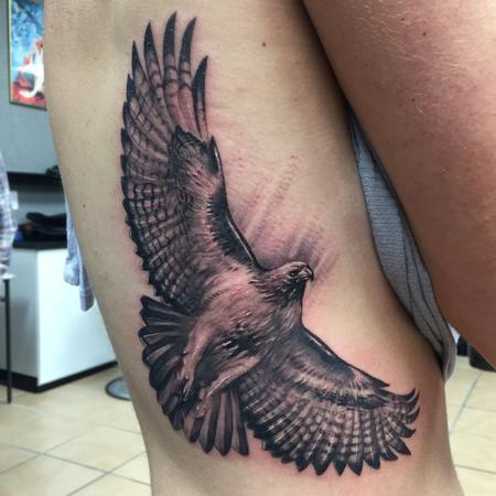 Red-winged Hawk Tattoo Design