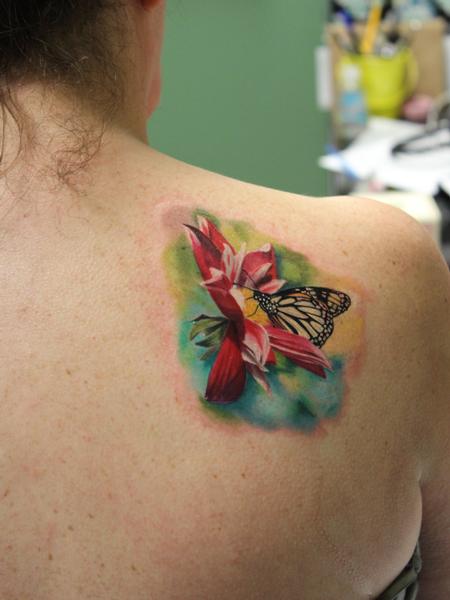 Tattoos - Flower & Butterfly - 106703