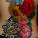 Floral Back Piece Tattoo Design Thumbnail