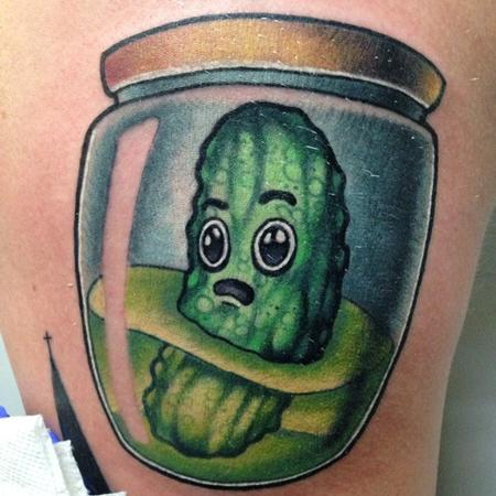 Pickle in a Jar Tattoo Design Thumbnail