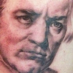Ludwig van Beethoven Portrait Tattoo Design Thumbnail