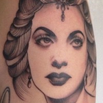 Vintage Woman Tattoo Design Thumbnail